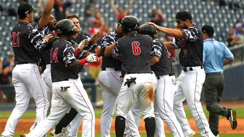 Nashville Sounds' Steve Lombardozzi Provides Game-Winner to beat Oklahoma City Dodgers. (Nashville Sounds)
