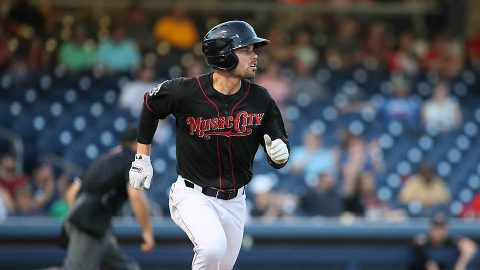 Nashville Sounds Center Fielder Jake Smolinski Drills Pair of Home Runs in win over Round Rock. (Nashville Sounds)