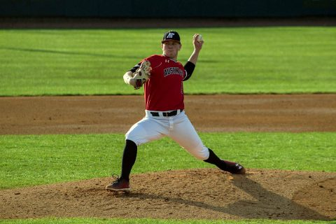 Austin Peay Baseball holds SIU Edwardsville to four hits in 4-0 shutout win Saturday afternoon at Simmons Baseball Complex. (APSU Sports Information)