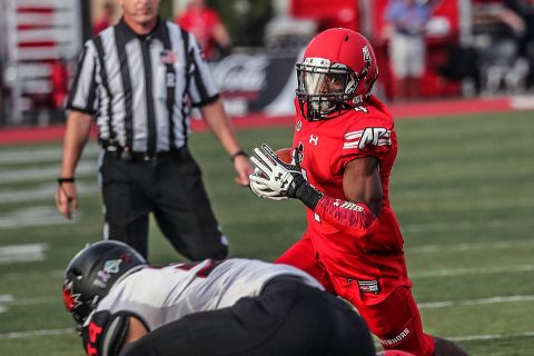 Austin Peay Football alumnus Kyran Moore signs with Canadian Football League's Saskatchewan Roughriders. (APSU Sports Information)