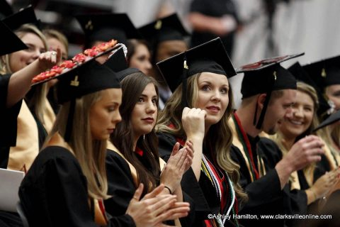 APSU held three graduation ceremonies Friday May 4th, recognizing approximately 1,300 graduates.