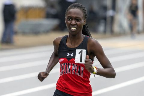 Austin Peay Track and Field's Emmaculate Kiplagat finished seventh in the 10,000m run Friday at the OVC Outdoor Championships. (APSU Sports Information)
