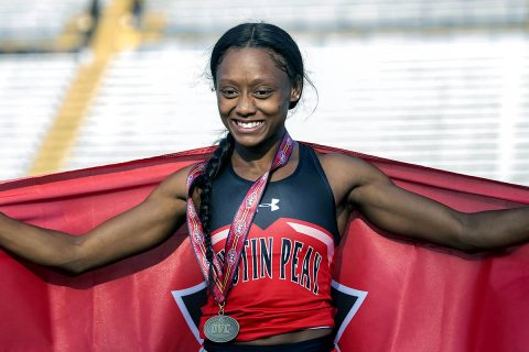 Austin Peay Track and Field sophomore Tymeitha Tolbert. (APSU Sports Information)