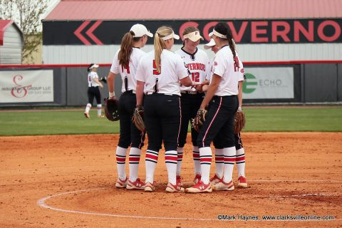 Austin Peay Softball takes on UT Martin Skysox Wednesday afternoon in OVC Tournament.