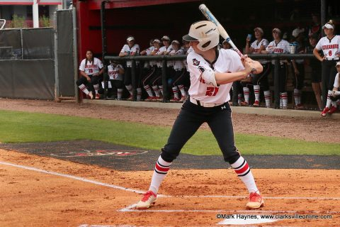 Austin Peay Softball outfielder Kacy Acree hit her seventh home run of the year in Govs 4-1 win over Tennessee State, Sunday. (APSU Sports Information)