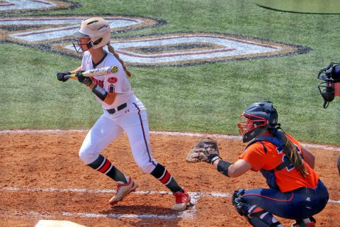 Austin Peay Softball's Natalie Shilling had one base hit and stole two bases in loss to Jacksonville State Thursday afternoon. (APSU Sports Information)