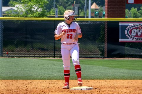 Austin Peay Softball has call go against them in 3-0 loss to Towson Thursday at the National Invitational Softball Championship. (APSU Sports Information)