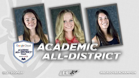 Austin Peay's Brittney Covington, Ashton Goodley and Lidia Yanes Garcia named 2017-18 Google Cloud Academic All-District® Women's At-Large Team. (APSU Sports Information)