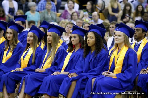 Clarksville Academy's Class of 2018 held its commencement ceremony in the school's gymnasium Saturday.