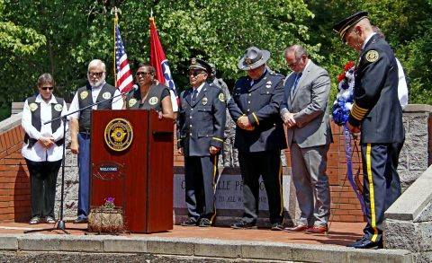 Clarksville-Montgomery County Fallen Officers were honored today at the Clarksville Police Department Headquarters.
