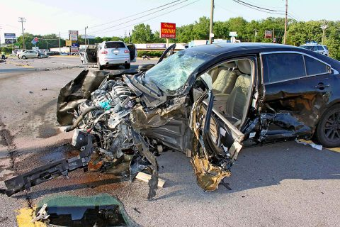 Clarksville Police worked a four car crash Monday afternoon on Fort Campbell Boulevard. (Officer Szczerbiak, CPD)