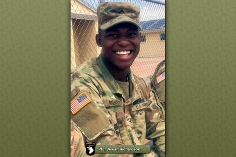 Fort Campbell soldier Pfc. Juwan Richardson