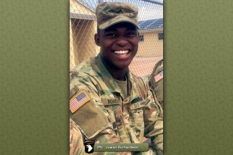 Fort Campbell soldier Pfc. Juwan Richardson