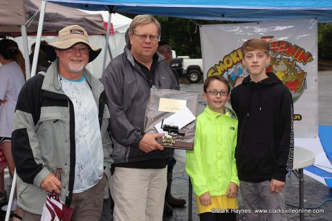 (L to R) Bubba Burchett and Ricky Thomas with RT-Que won Grand Champion at Hilltop Supermarket's 3rd annual Dwayne Byard Memorial BBQ Cook Off, Saturday.