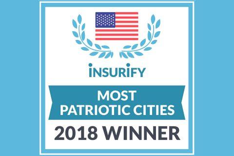 Insurify Most Patriotic Cities Award