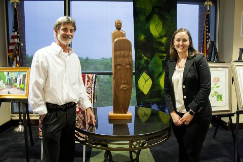 Mike Andrews and Laura Crow with Signature Piece