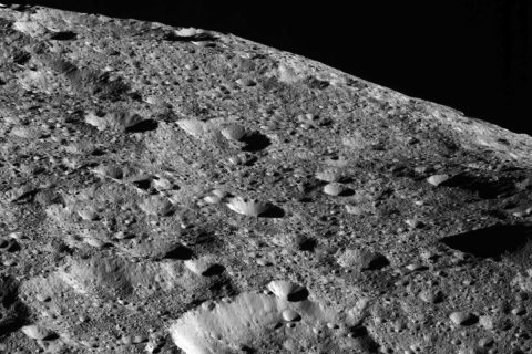 This picture is one of the first images returned by Dawn in more than a year, as Dawn moves to its lowest-ever and final orbit around Ceres. Dawn captured this view on May 16, 2018 from an altitude of about 270 miles (440 kilometers). (NASA/JPL-Caltech/UCLA/MPS/DLR/IDA)