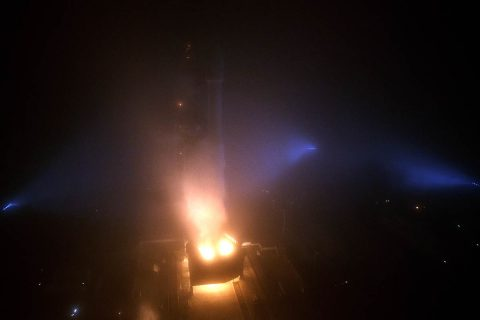 """The NASA InSight spacecraft launches onboard a United Launch Alliance Atlas-V rocket, Saturday, May 5, 2018, from Vandenberg Air Force Base in California. InSight, short for Interior Exploration using Seismic Investigations, Geodesy and Heat Transport, is a Mars lander designed to study the """"inner space"""" of Mars: its crust, mantle, and core. (NASA/Bill Ingalls)"""