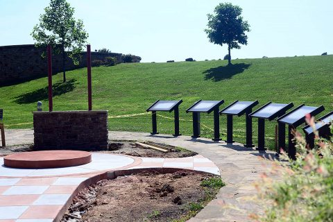 Construction is wrapping up on the Pat Head Summitt Legacy Plaza at Freedom Point. Civic volunteers will achieve their goal of honoring Pat Head Summitt, hometown hero and legendary University of Tennessee women's basketball coach. A bronze statue of Coach Summitt and an interpretative display of her life story will be dedicated at 3:00pmFriday, June 15th in Clarksville's Liberty Park.