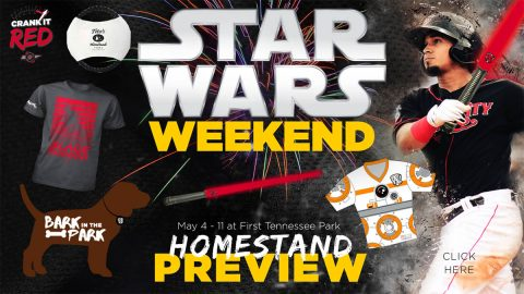 Star Wars Weekend, Bark in the Park, Two Fireworks Shows Highlight Nashville Sounds Homestand. (Nashville Sounds)