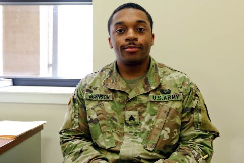 Sgt. Alonzo Johnson a religious affairs specialist assigned to Headquarters and Headquarters Battalion, 101st Airborne Division and Atlanta, GA native. (Sgt. Steven Lopez, 40th Public Affairs Detachment)