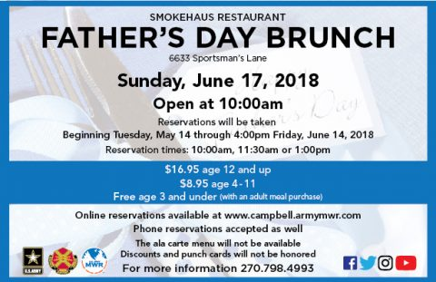 Have Father's Day Brunch at Smokehaus Restaurant