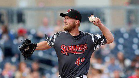 Nashville Sounds pitcher Eric Jokisch Tosses Six Scoreless Frames, Nick Martini Extends On-Base and Hitting Streaks. (Nashville Sounds)
