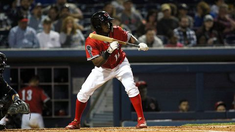 Nashville Sounds' Jorge Mateo and Ramon Laureano each collect four hits to lead 15-hit attack. (Nashville Sounds)
