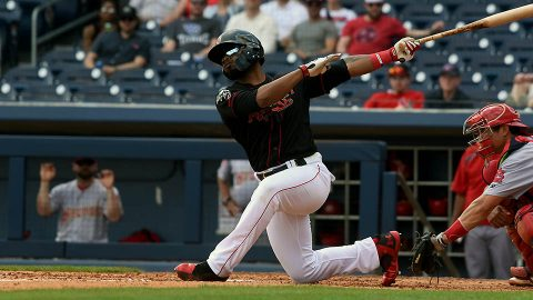 Nashville's Anthony Garcia homers twice but Sounds drops series opener. (Nashville Sounds)