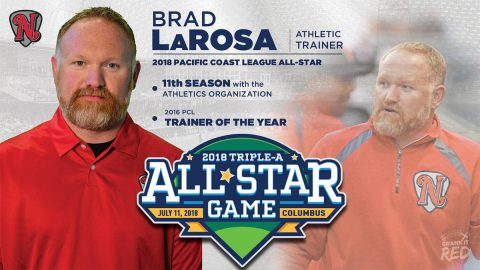 Nashville Sounds' athletic trainer Brad LaRosa has been selected to the Pacific Coast League All-Star field staff. (Nashville Sounds)