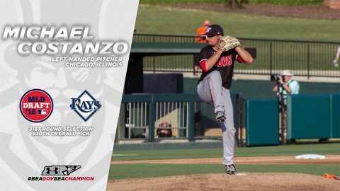 Austin Peay Baseball alumnuss Michael Costanzo drafted by Tampa Bay Rays in 2018 Major League Base draft, Wednesday. (APSU Sports Information)