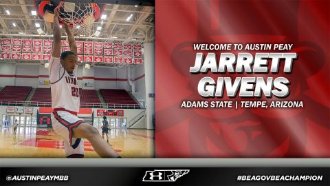 Austin Peay announces Jarrett Givens joins Men's Basketball team. (APSU Sports Information)