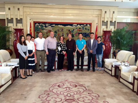 APSU professor Dr. Benita Bruster recruiting trip to China.