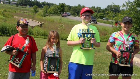 Ardin Lopez, Katrina Yingling, Ethan Duffie and Keshia Mullins were this year's trophy winners at Saturday's Youth Fishing Rodeo