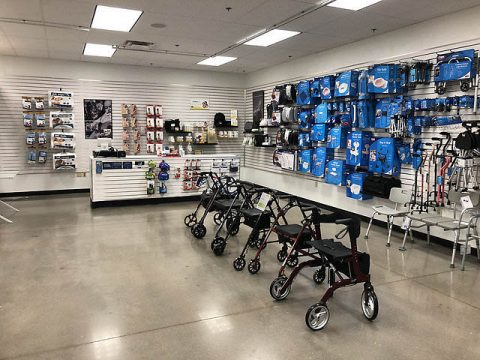The Exchange makes it easy to find durable medical equipment, such as braces, fitness bands, crutches and other devices that sometimes aren't covered by health insurance plans. (Army & Air Force Exchange Service HQ)
