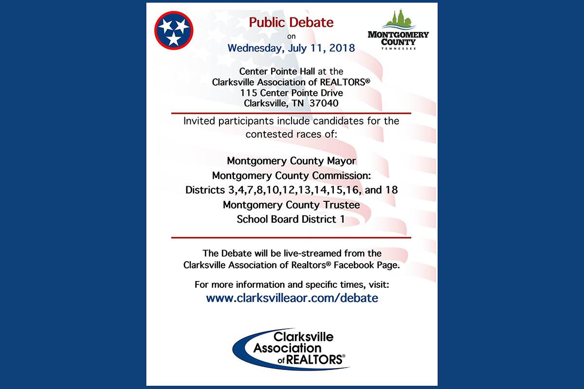 Clarksville Association of Realtors 2018 Public Candidate Debate