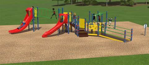Bel-Aire Park's new playground to be unveiled Thursday, June 7th.