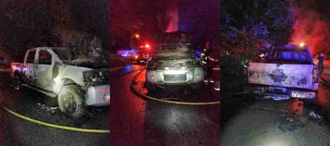 Three Vehicles were set afire early Monday morning.