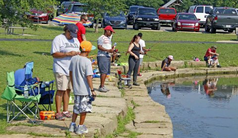 2nd annual Cops and Bobbers was held at the Liberty Park pond.