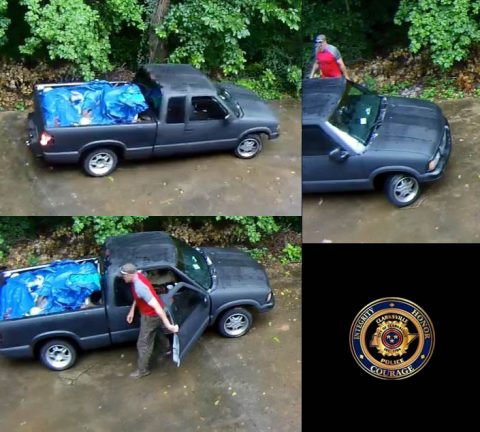 'Truckless Twosome' are wanted for stealing a trailer in South Clarksville.
