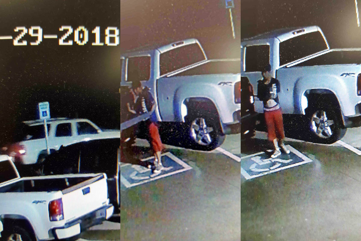 Clarksville Police are trying to identify suspects in theft of a tailgate.