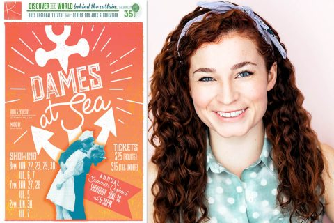 "Kelly Letourneau stars as Ruby in ""Dames At Sea"" at the Roxy Regional Theatre, June 22nd-July 7th."