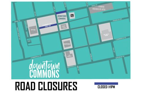 Downtown Clarksville Road Closures - June