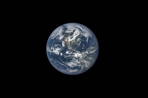 This image, taken in 2015, shows Earth as seen by NASA's Earth Polychromatic Imaging Camera (EPIC), aboard NOAA's Deep Space Climate Observatory (DSCOVR) spacecraft. (NASA)