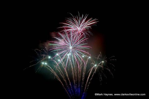City of Clarksville allows fireworks July 1st-5th from 6:00pm-10:00pm.