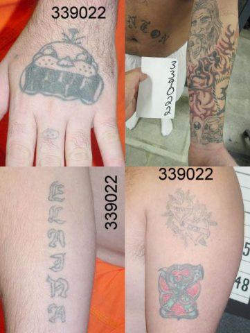 Joel Blanton's tatoos.