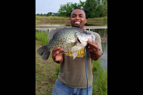 Lionel Ferguson with record setting Black Crappie