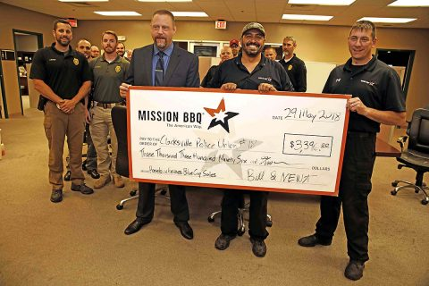Mission BBQ donates $3396.00 to Clarksville Police Union