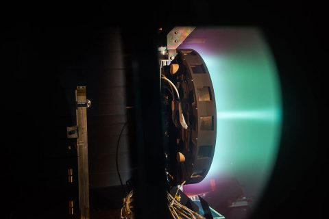 NASA is seeking a high-power, 50-kW solar electric propulsion (SEP) spacecraft to maintain the Gateway's position. (NASA)