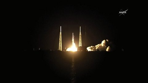SpaceX launches its Falcon 9 rocket and Dragon cargo craft carrying JPL's ECOSTRESS mission from Space Launch Complex 40 at Cape Canaveral Air Force Station in Florida at 4:42am CDT June 29th, 2018. About nine minutes and 31 seconds after launching from Cape Canaveral Air Force Station in Florida on June 29th, 2018, the SpaceX Dragon spacecraft carrying JPL's ECOSTRESS mission separates from the second-stage engine. (NASA TV)